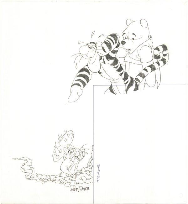 15: Mike Royer b/w  Winnie the Pooh original Comic Art