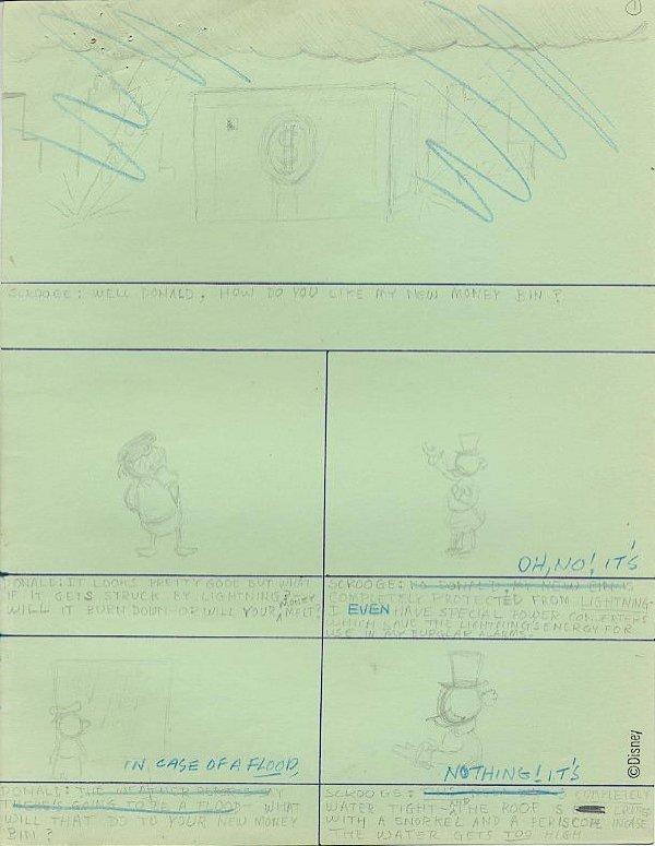 22: Disney Donald/Scrooge original comic story layouts