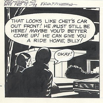 75: Bradley/Edgington Rex Morgan MD daily comic art - 2