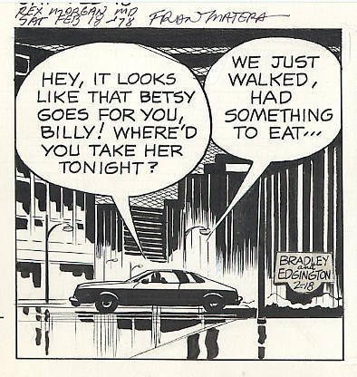76: Bradley/Edgington Rex Morgan MD daily comic art - 2