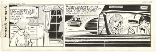 83: Martin Branner 3 Winnie Winkle dailies 1967 comic a