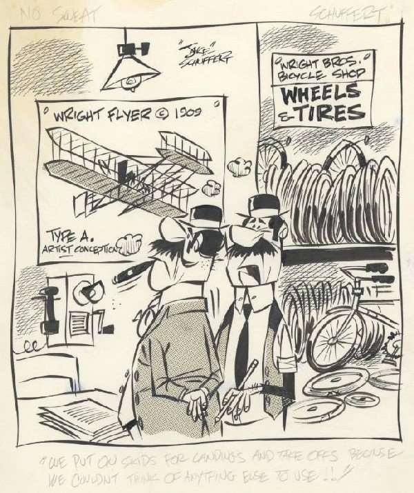 6: Schuffert 6 No Sweat dailies 1970 original comic art