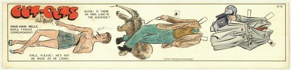 10: Messick Brenda Starr Chug-Chug original comic art