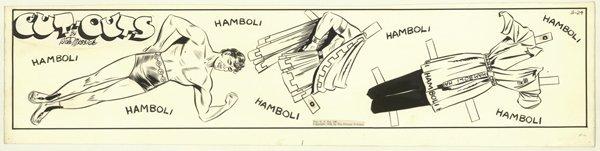 11: Messick Brenda Starr Hamboli original comic art