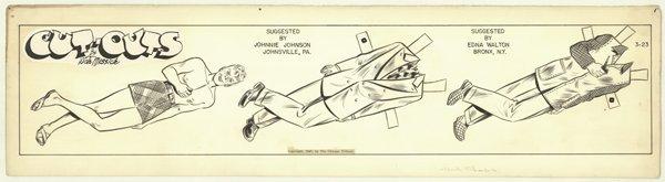 12: Messick Brenda Starr Pesky original comic art