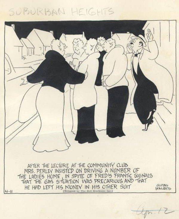 17: Williams Suburban Heights daily original comic art