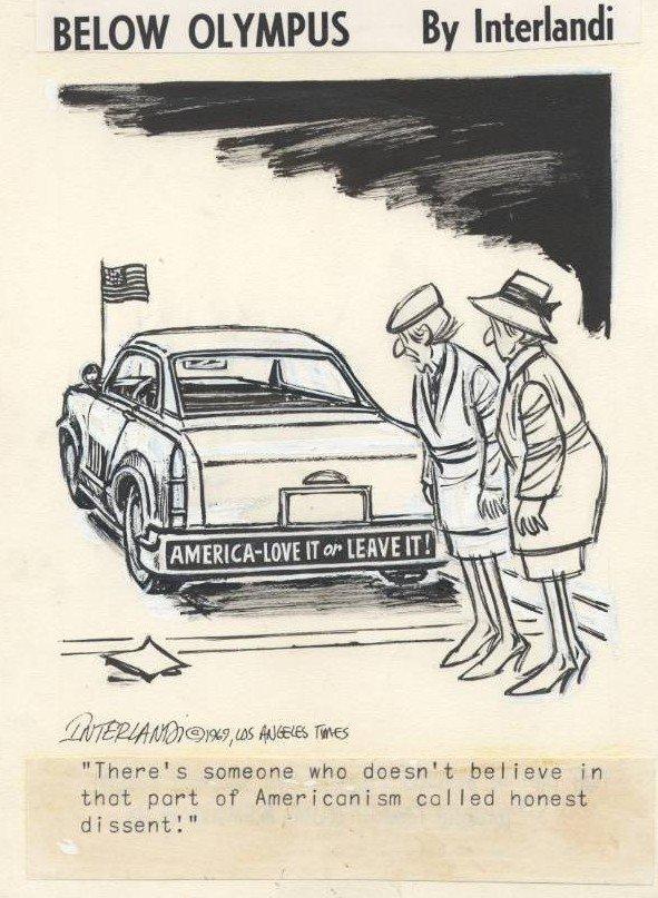 18: Interlandi LA Times 1969 original comic art