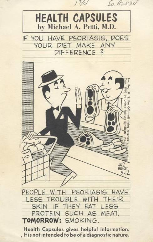 19: Hurd Health Capsules daily 1960s original comic art