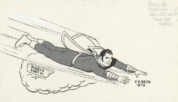 20: Beck specialty Captain Marvel original comic art
