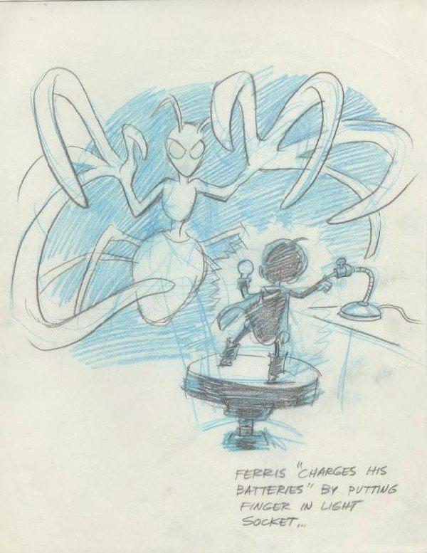 22: Wood Ferris and Misfits-Ferris original comic art