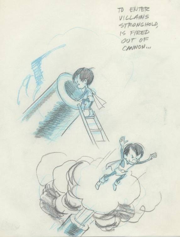 23: Wood Ferris and Misfits-cannon original comic art