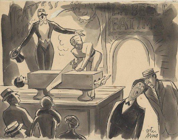 50: Arno New Yorker 1950s cartoon original comic art
