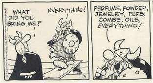 89: Browne Hagar the Horrible daily original comic art