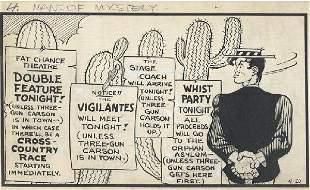 126: Capp 3 Li'l Abner dailies 1950 original comic art