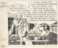 273: Raymond Rip Kirby daily 1946 original comic art