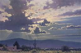 Michael Stack | Clouded Moon Over Tucson