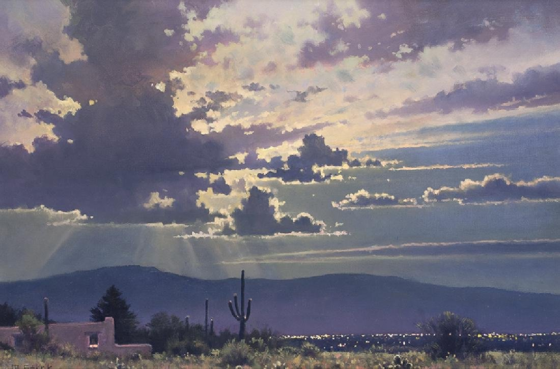 Michael Stack   Clouded Moon Over Tucson
