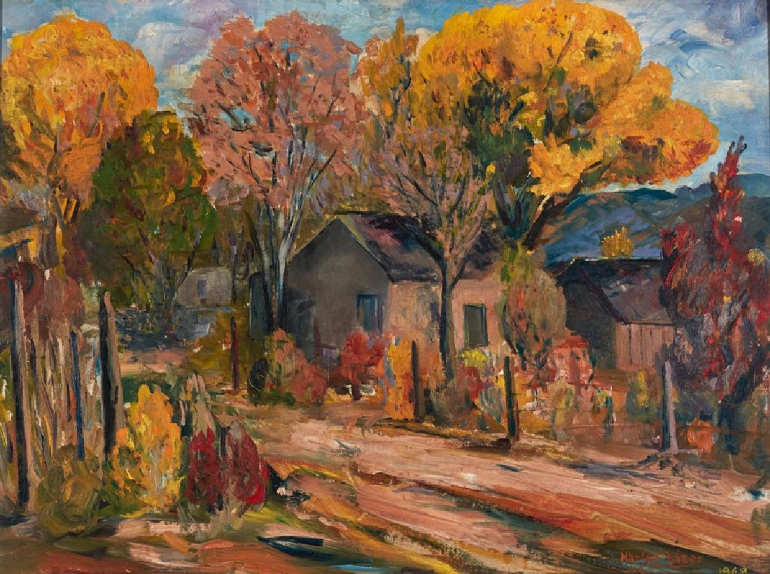 Harlan Lizer | Home in Fall Landscape