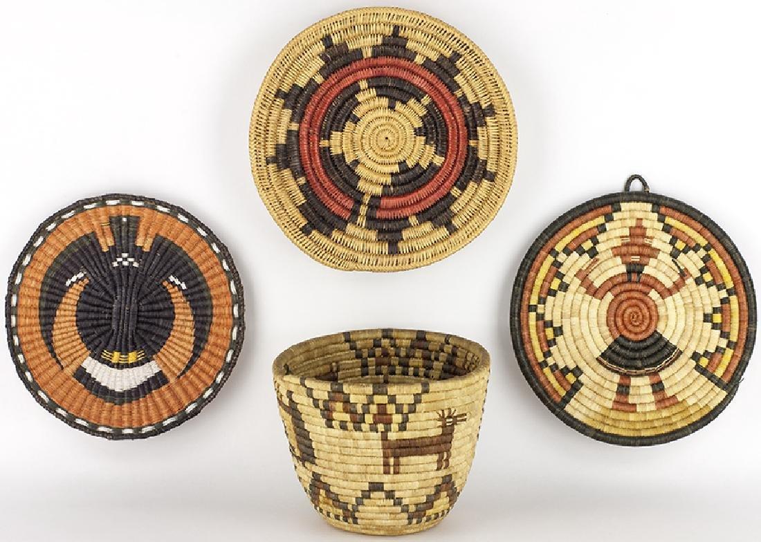 Various | 1 Navajo & 3 Hopi Baskets