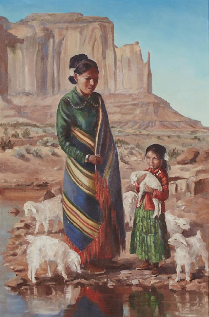 Claudine Morrow | Indian Lady and Child