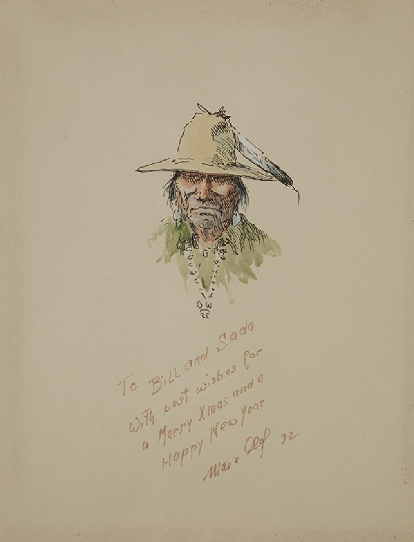 Olaf Wieghorst | Indian with Feather in Hat