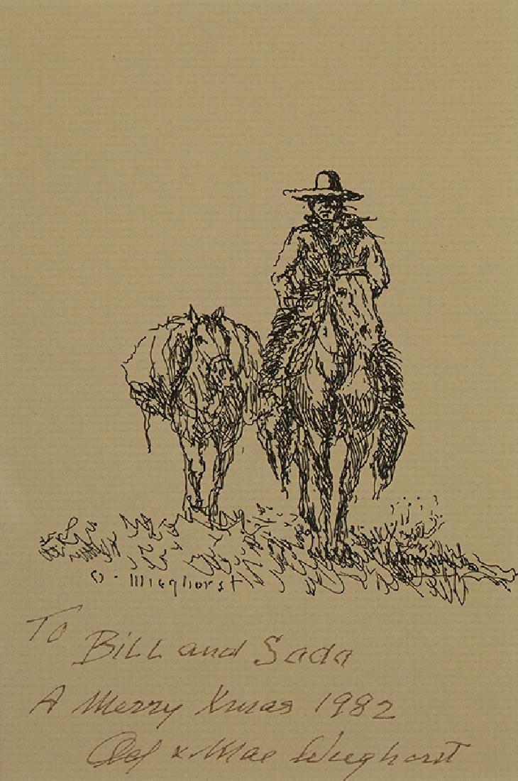 Olaf Wieghorst | Man on Horseback with Pack Horse