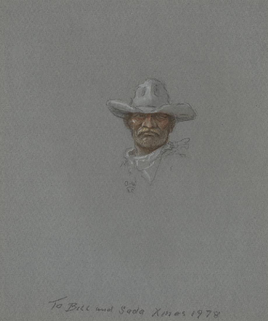 Olaf Wieghorst | Cowboy with White Hat