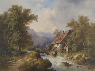 Hermann Herzog | The Mill on the River