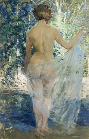 Emile Albert Gruppe | Nude at Woodland Pool