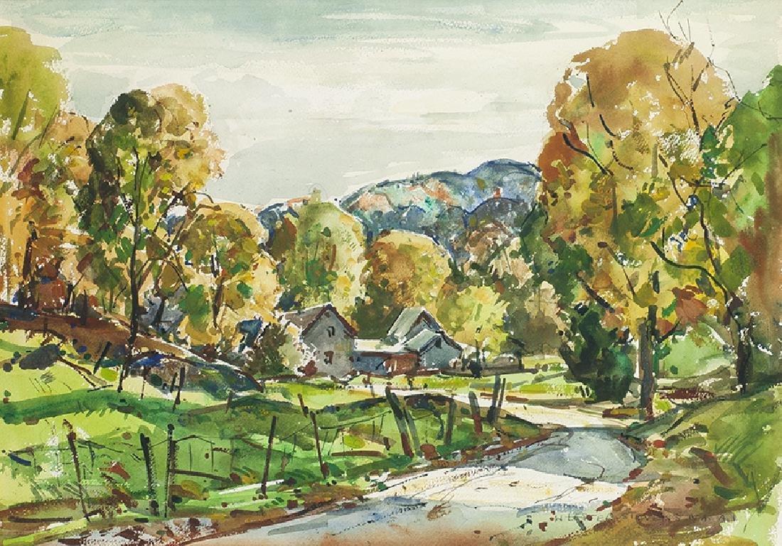 William Lester Stevens | Homestead in Autumn