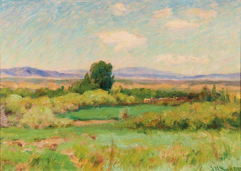 Joseph Henry Sharp   Landscape With Adobes