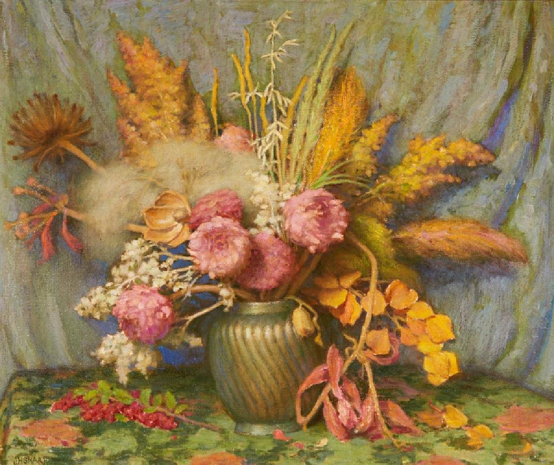 Joseph Henry Sharp   Autumn Flowers, Weeds, Grasses and