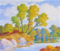 Birger Sandzén | Autumn (Smoky Hill River, Kansas)
