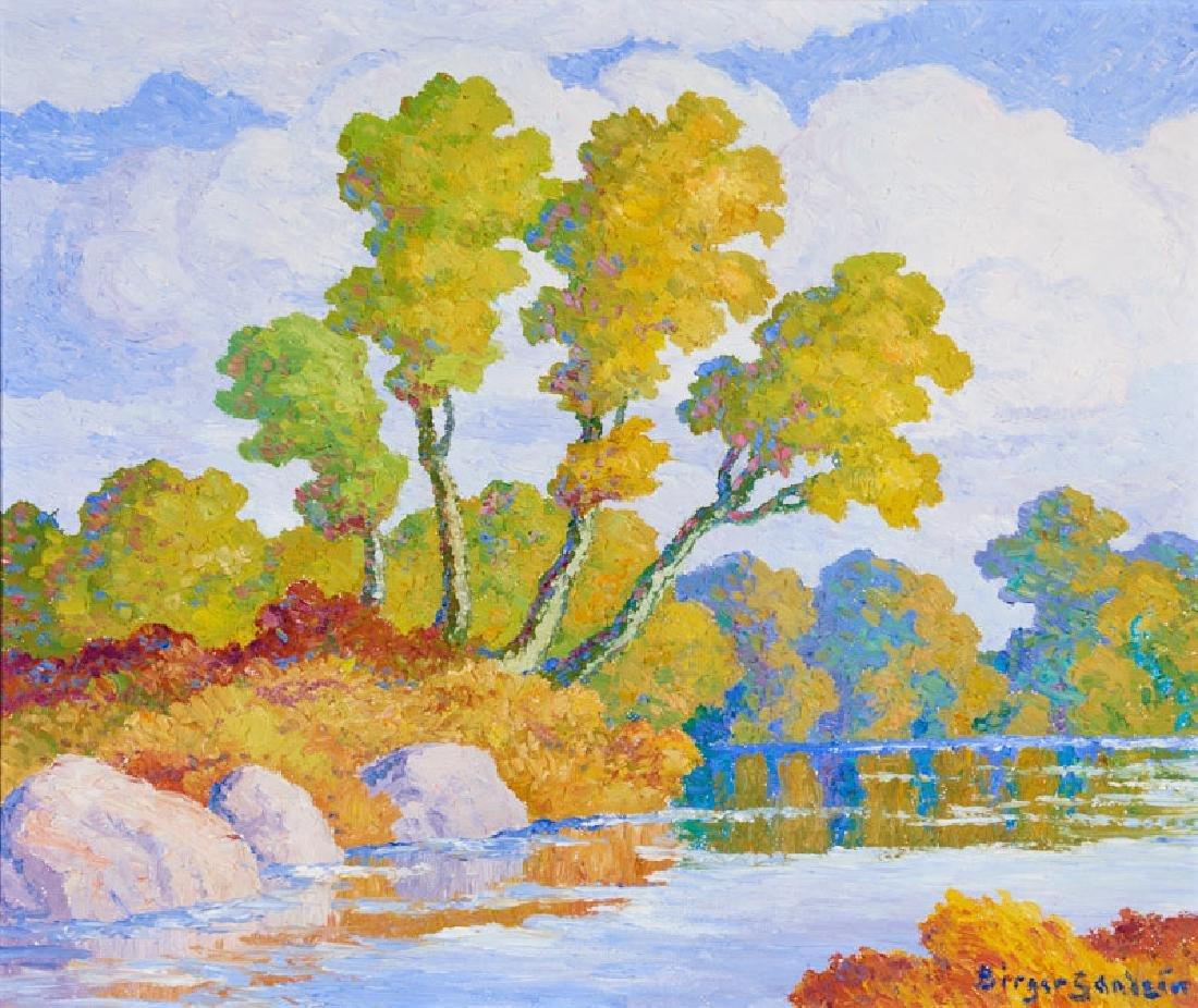 Birger Sandzén   Autumn (Smoky Hill River, Kansas)
