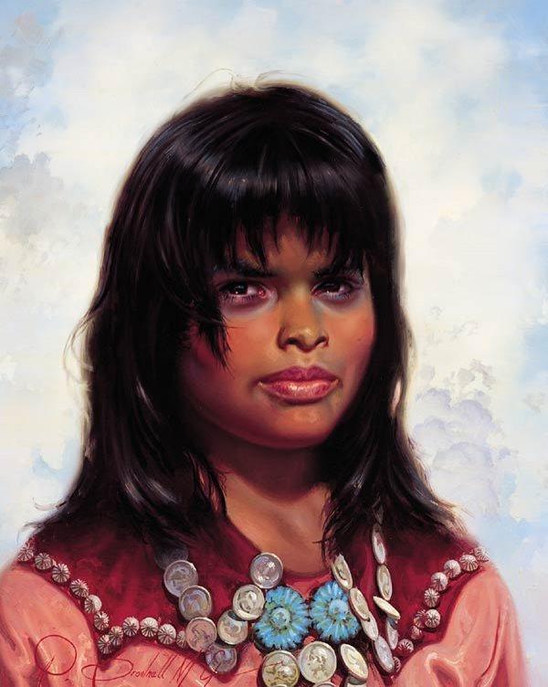 "8: R. Brownell McGrew ""Navajo Girl of Teec Toh Area"""
