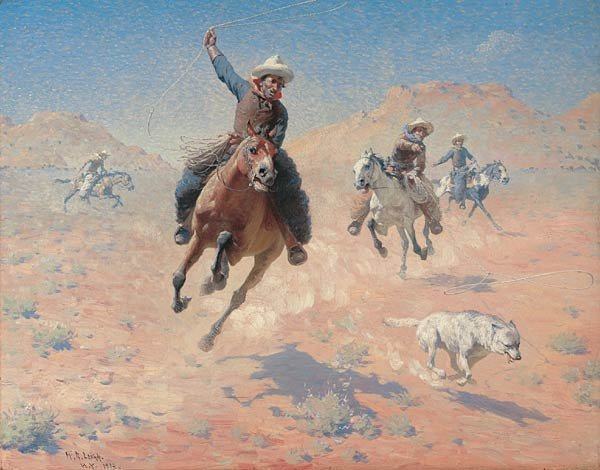 """20: W. R. Leigh """"Roping the Wolf"""""""