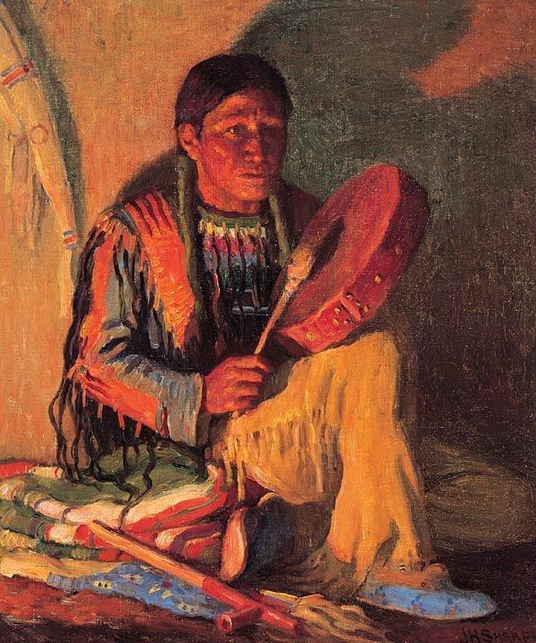 """21: Joseph Henry Sharp """"Taos Drummer"""""""