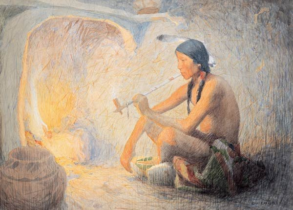 """22: Eanger Irving Couse """"Solitary Indian"""""""