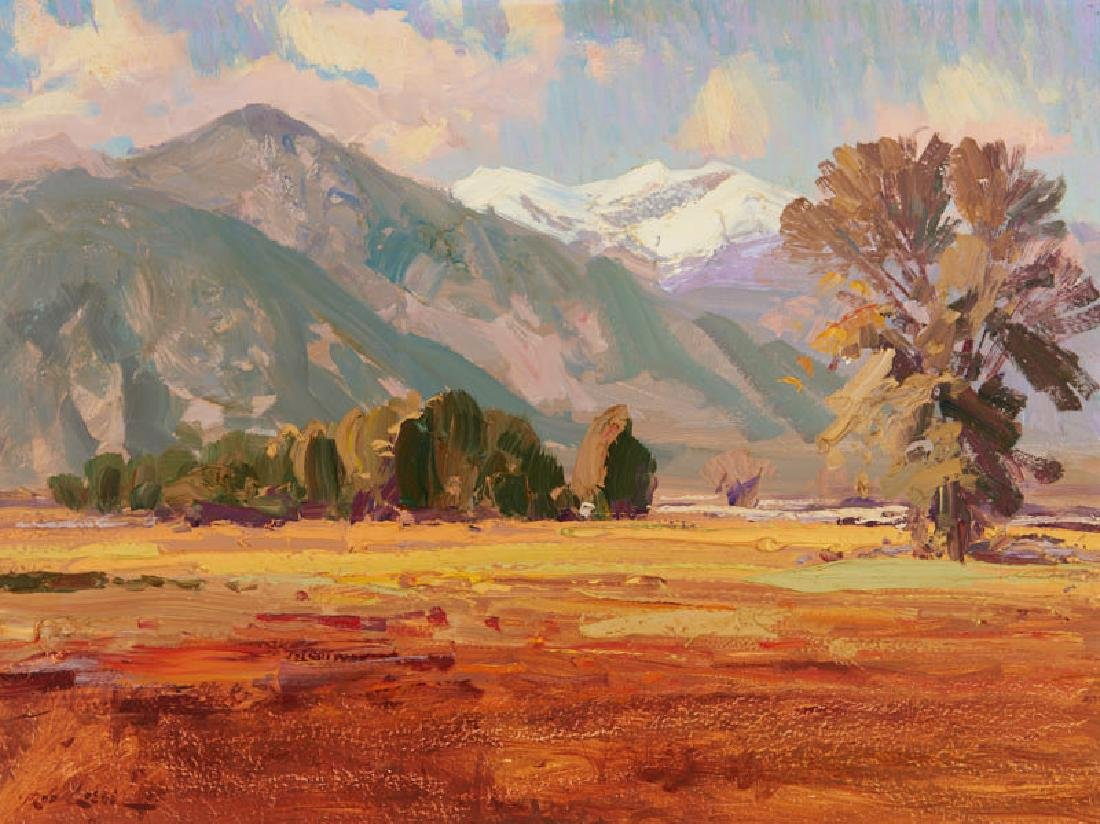 Rod Goebel | Landscape with Snow Covered Mountains and