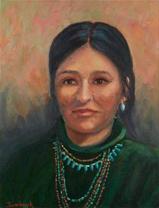 Walter Bambrook Portrait of a Woman