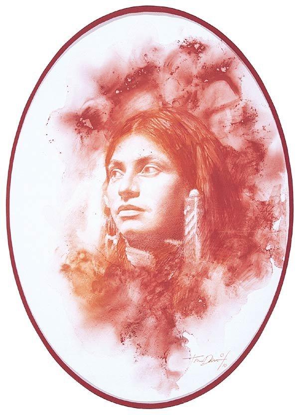 """1006: Tomas P. Darro """"Portrait of a Native American"""""""
