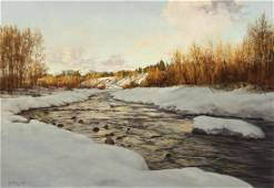 Clark Hulings | Twilight on the Chama