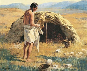 """22: """"The Sweat Lodge"""" by Howard Terpning"""
