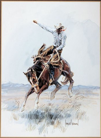 12: Harley Brown, (b. 1939), Ride 'em Cowboy