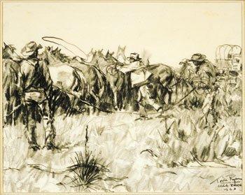 19: Tom Ryan (b.1922), Catching Horses 6666 Ranch
