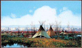 23: John Paul Strain  (b.1955), Autumn Hunting Camp