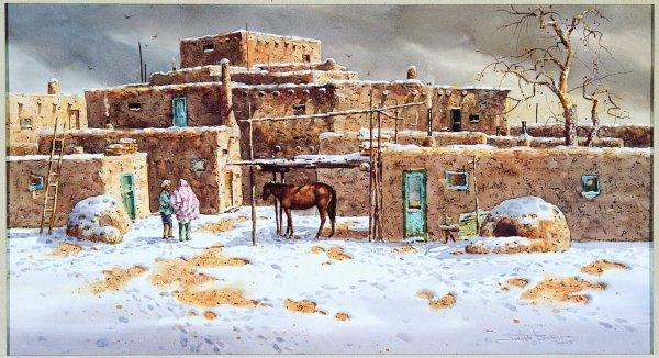 24: Joseph Stephen Bohler (b.1938), Winter Pueblo