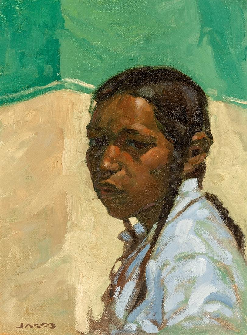 Ned Jacob   Portrait of Indian Youth
