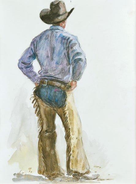 20: Beeler, Joe, 1931 - 2006 CAA, Cowboy in Chaps