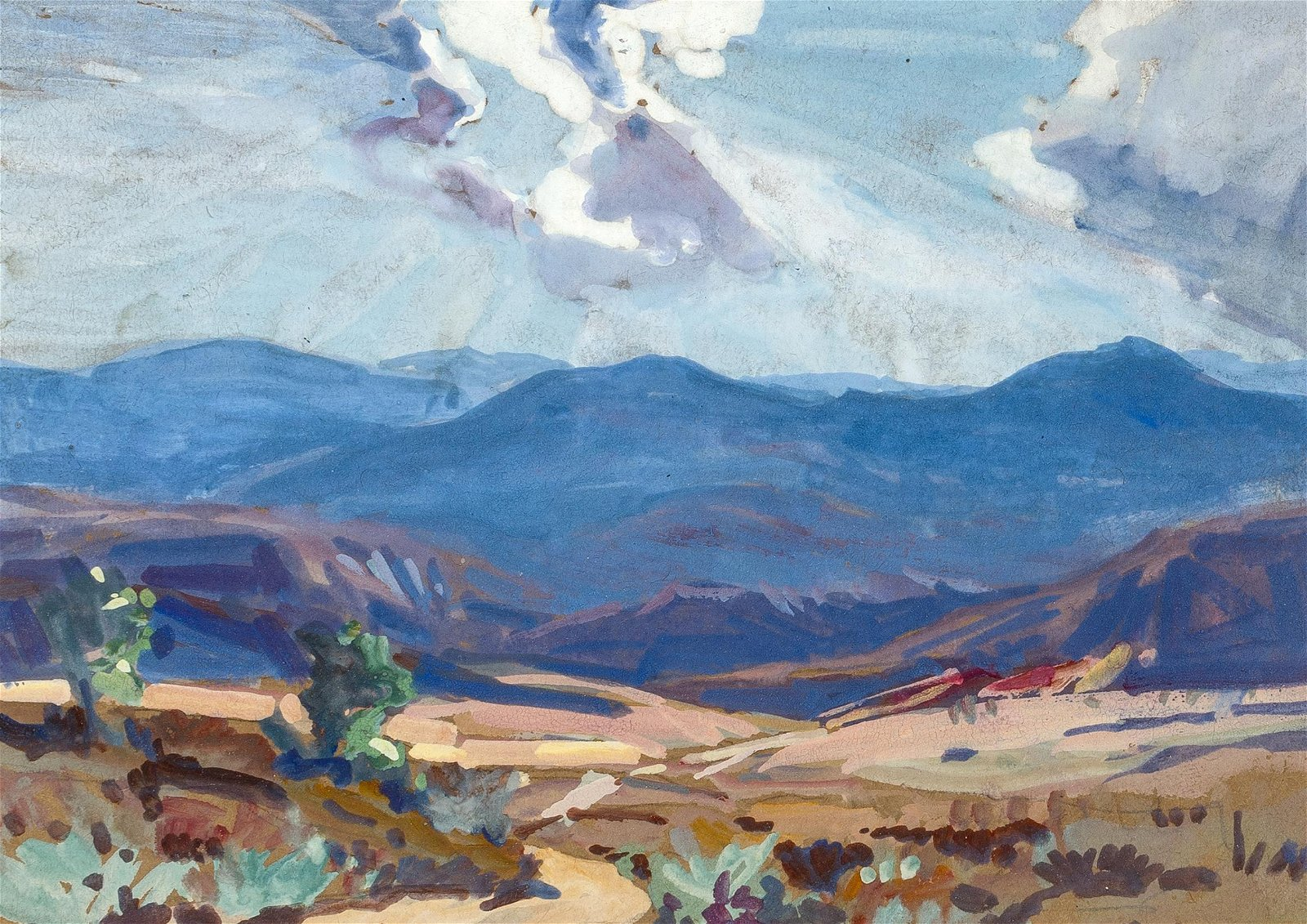 Carl Oscar Borg | Canyon Landscape